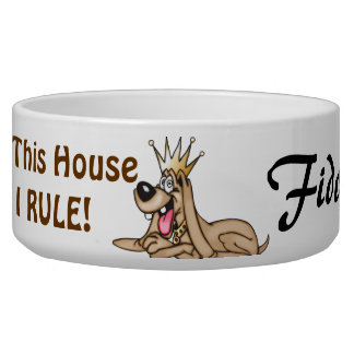 I Rule Customized Dog Bowls