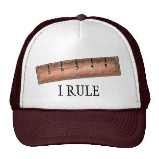 I Rule Wooden Ruler Math Nerd Teacher School Hat