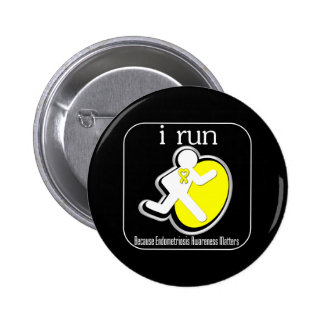 i Run Because Endometriosis Matters 6 Cm Round Badge