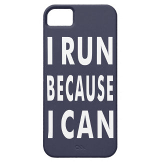 I run because I can iPhone SE + iPhone 5/5S Case