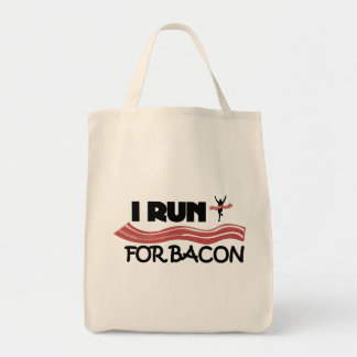 I Run for Bacon - Grocery Tote Bag