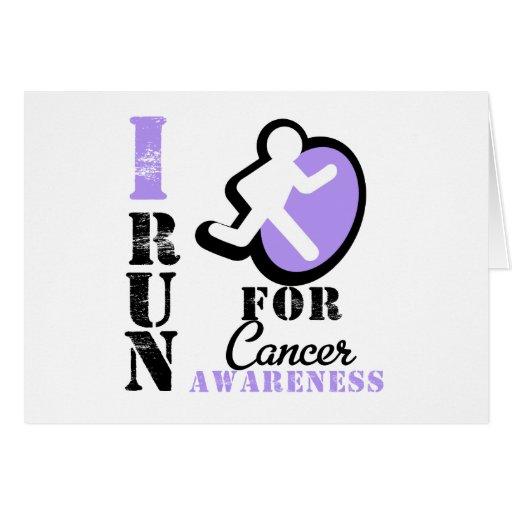 I Run For Cancer Awareness Cards