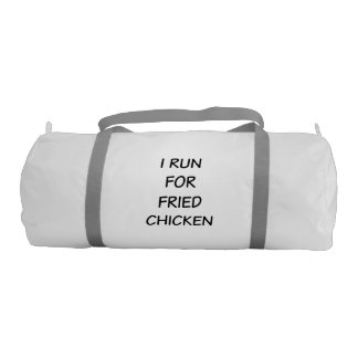 I Run For Fried Chicken Gym Duffle Bag Gym Duffel Bag