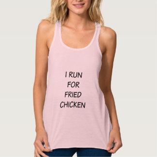 I Run for Fried Chicken Womens Racerback Tank Top