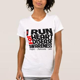 I Run For Heart Disease Awareness Shirt