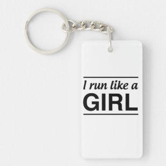 I Run Like A Girl Key Ring