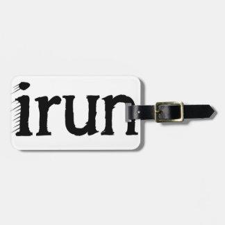 I run luggage tag
