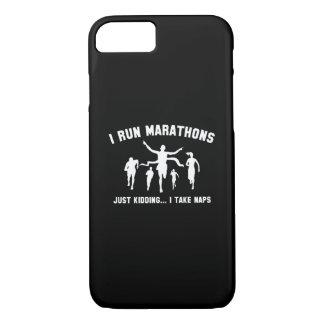 I Run Marathons iPhone 7 Case