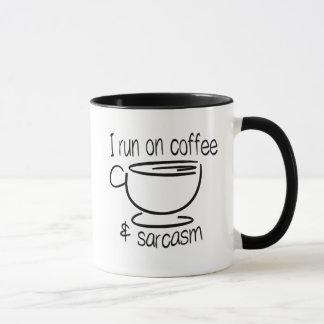 I run on coffee & sarcasm mug