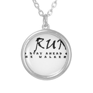 I run silver plated necklace