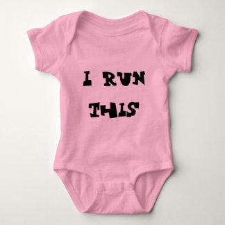 I run this baby bodysuit