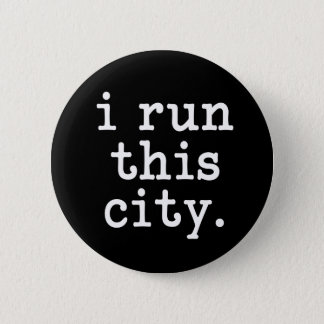 i run this city funny runner button