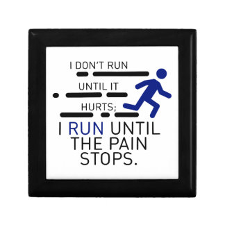 I Run Until The Pain Stops Gift Box