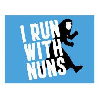 I Run with Nuns Postcard