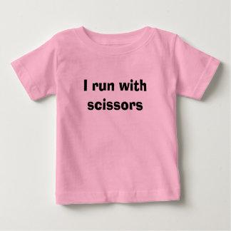 I run with scissors baby T-Shirt