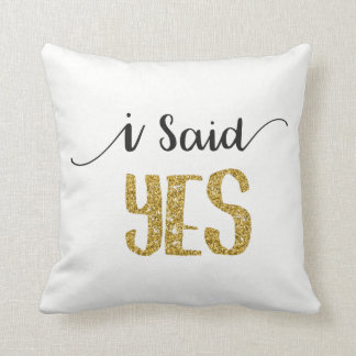 I Said YES Bridal Engagement Cushion