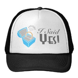 I Said Yes! (Engagement Ring Box) Mesh Hats