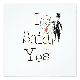 I Said Yes Custom Announcement