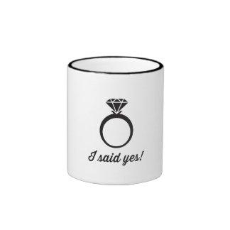 I Said Yes! Ringer Mug