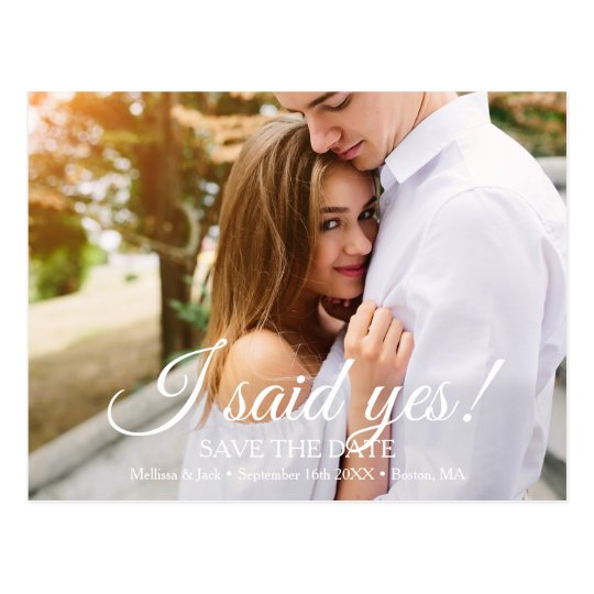 I said Yes | Save the Date Postcard