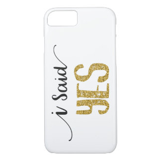 I Said YES Wedding Apple iPhone 8/7 Phone Case