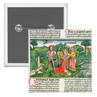 I Samuel 10 The coronation and annointing of Saul, 15 Cm Square Badge