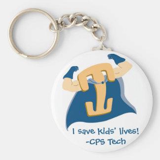 I save kids' lives!-CPS Tech Key Ring