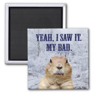 I Saw It Groundhog Day Magnet