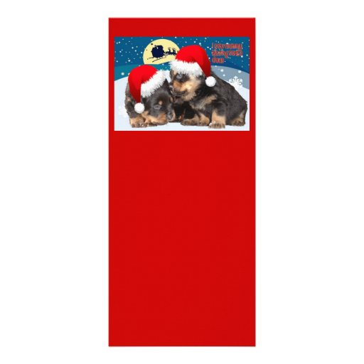 I Saw Mummy Kissing Santa Claus (With Text) Rack Card Design