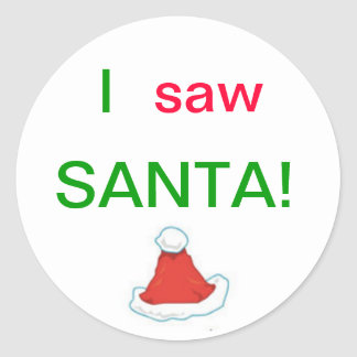 I Saw Santa Stickers