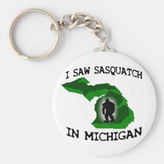 I Saw Sasquatch In Michigan Keychains