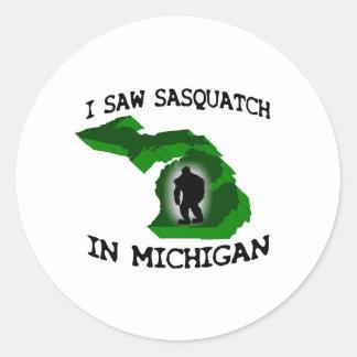 I Saw Sasquatch In Michigan Stickers