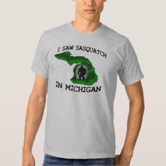 I Saw Sasquatch In Michigan T Shirt