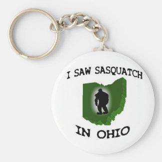 I Saw Sasquatch In Ohio Basic Round Button Key Ring