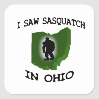 I Saw Sasquatch In Ohio Square Sticker