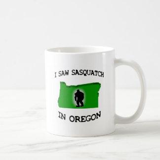 I Saw Sasquatch In Oregon Basic White Mug
