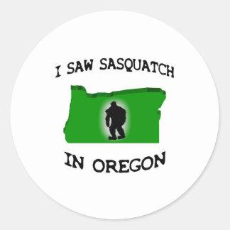 I Saw Sasquatch In Oregon Stickers