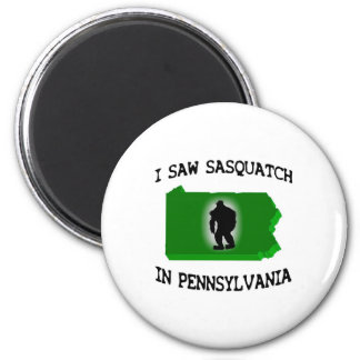 I Saw Sasquatch In Pennsylvania 6 Cm Round Magnet