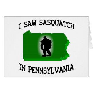 I Saw Sasquatch In Pennsylvania Greeting Card