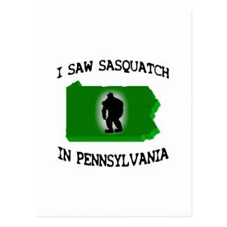 I Saw Sasquatch In Pennsylvania Postcard