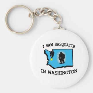 I Saw Sasquatch In Washington Basic Round Button Key Ring
