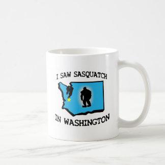 I Saw Sasquatch In Washington Basic White Mug