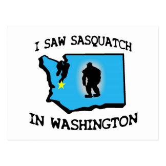 I Saw Sasquatch In Washington Postcards