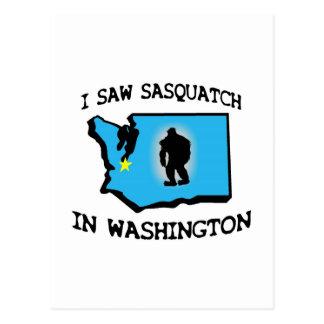 I Saw Sasquatch In Washington Postcard
