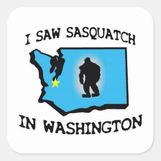 I Saw Sasquatch In Washington Square Sticker