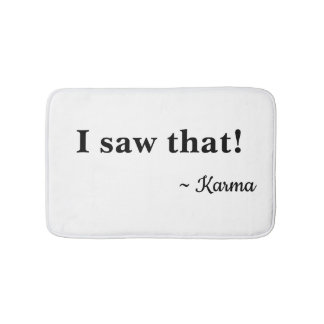 I saw that! bath mat