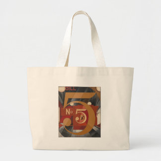 I Saw the Figure 5 in Gold Large Tote Bag
