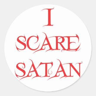 I Scare Satan Stickers