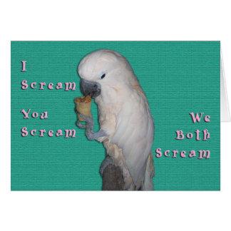 I Scream Card