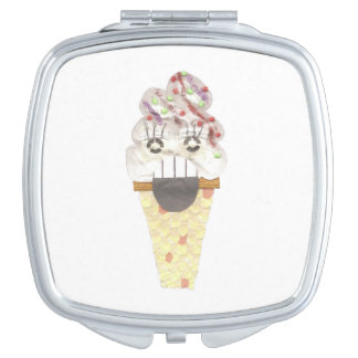 I Scream Compact Mirror